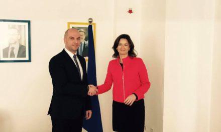 Симић са чланицом Парламента Европске Уније Тањом Фајон