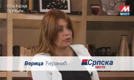 Verica Ćeranić – Gostovanje na TV Mostu