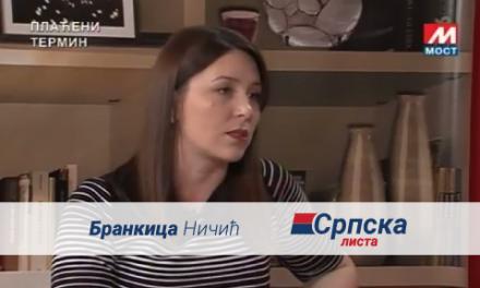 Brankica Ničić – Gostovanje na TV Mostu