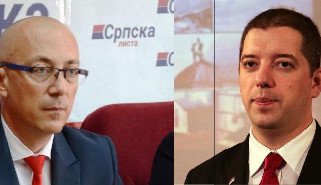 Predsednik Srpske liste Goran Rakić na sastanku sa direktorim kancelarije za KiM Markom Đurićem
