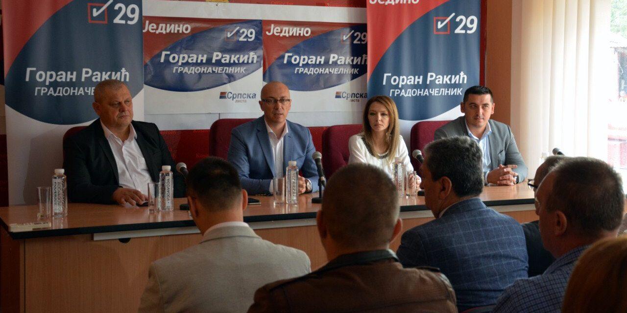 Predsednik Srpske liste Goran Rakić održao sastanak sa kandidatima za odbornike
