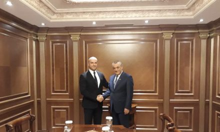 Састанак потпредседника Скупштине Славка Симића са председником Народне скупштине Албаније Грамозом Рућијем
