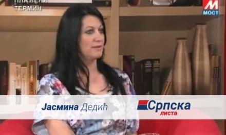 Јасмина Дедић – гостовање на ТВ Мосту