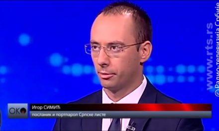 Simić: Srpska lista najoštrije osuđuje maltretiranje predstavnika Crvenog krsta Kosova i Metohije