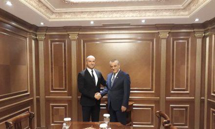 Sastanak potpredsednika Skupštine Slavka Simića sa predsednikom Narodne skupštine Albanije Gramozom Rućijem